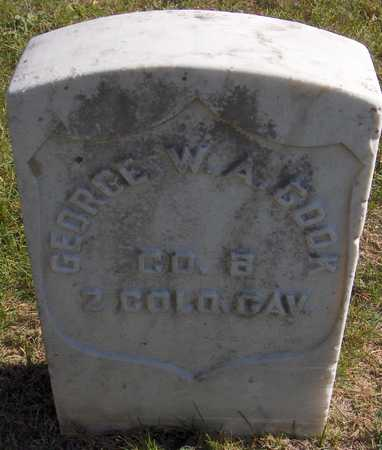 COOK, GEORGE W.A. - Jones County, Iowa | GEORGE W.A. COOK