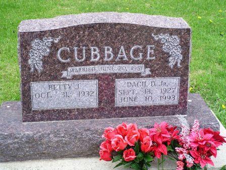 CUBBAGE, DACIL D. JR. - Jones County, Iowa   DACIL D. JR. CUBBAGE