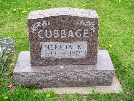 CUBBAGE, HERTHA K - Jones County, Iowa   HERTHA K CUBBAGE