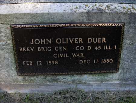 DUER, GENERAL JOHN O. - Jones County, Iowa | GENERAL JOHN O. DUER