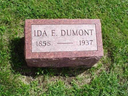 DUMONT, IDA E. - Jones County, Iowa | IDA E. DUMONT