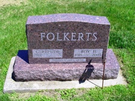 FOLKERTS, ROY H. - Jones County, Iowa | ROY H. FOLKERTS