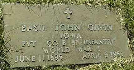GAVIN, BASIL JOHN - Jones County, Iowa   BASIL JOHN GAVIN