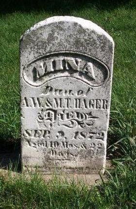 HAGER, MINA - Jones County, Iowa | MINA HAGER