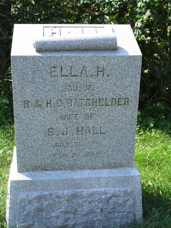 HALL, ELLA H - Jones County, Iowa   ELLA H HALL