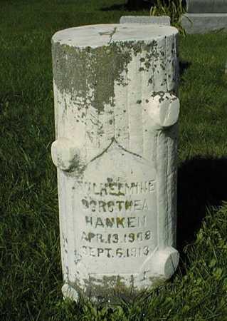 HANKEN, WILHELMINE DOROTHEA - Jones County, Iowa | WILHELMINE DOROTHEA HANKEN