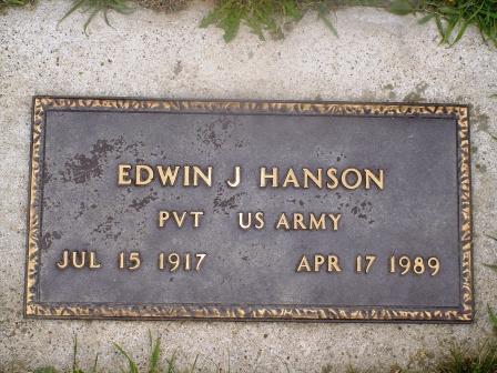 HANSON, EDWIN J - Jones County, Iowa | EDWIN J HANSON