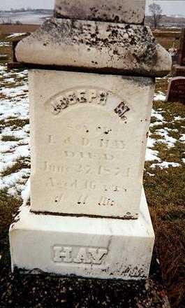 HAY, JOSEPH H. - Jones County, Iowa | JOSEPH H. HAY