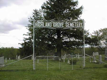 HIGHLAND GROVE, CEMETERY - Jones County, Iowa   CEMETERY HIGHLAND GROVE