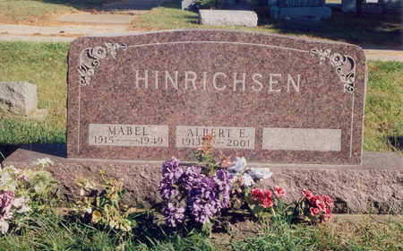 HINRICHSEN, ALBERT ELMER - Jones County, Iowa   ALBERT ELMER HINRICHSEN