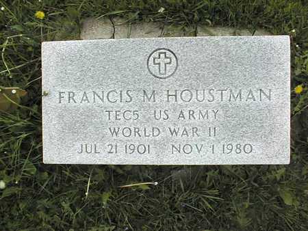 HOUSTMAN, FRANCIS M. - Jones County, Iowa   FRANCIS M. HOUSTMAN
