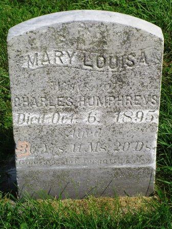 HUMPHREYS, MARY LOUISA - Jones County, Iowa   MARY LOUISA HUMPHREYS