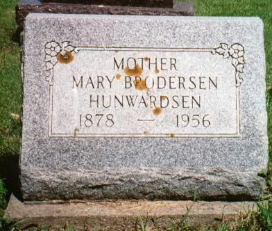 BRODERSEN HUNWARDSEN, MARY - Jones County, Iowa | MARY BRODERSEN HUNWARDSEN