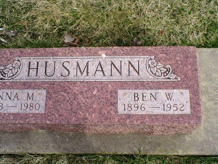 HUSMANN, BEN W - Jones County, Iowa | BEN W HUSMANN