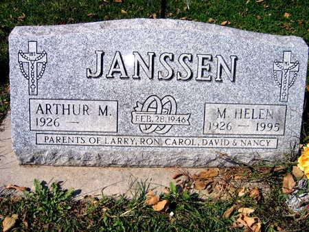 JANSSEN, M. HELEN - Jones County, Iowa   M. HELEN JANSSEN