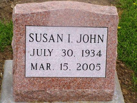 JOHN, SUSAN I - Jones County, Iowa | SUSAN I JOHN