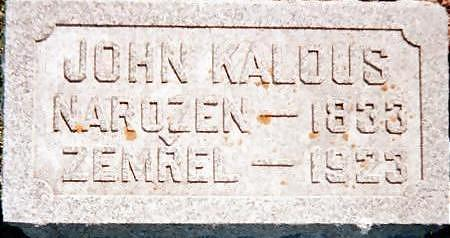 KALOUS, JOHN - Jones County, Iowa | JOHN KALOUS