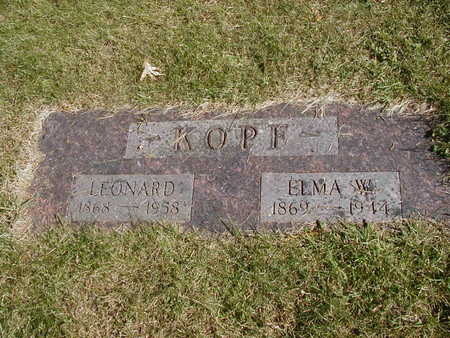 KOPF, ELMA - Jones County, Iowa | ELMA KOPF