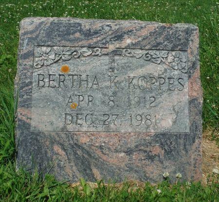 KOPPES, BERTHA K,. - Jones County, Iowa   BERTHA K,. KOPPES