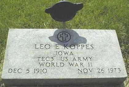 KOPPES, LEO E. - Jones County, Iowa | LEO E. KOPPES