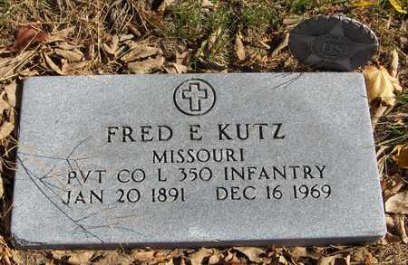 KUTZ, FRED E. - Jones County, Iowa   FRED E. KUTZ