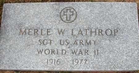LATHROP, MERLE W. - Jones County, Iowa   MERLE W. LATHROP