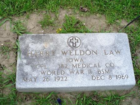 LAW, HARRY WELDON - Jones County, Iowa   HARRY WELDON LAW