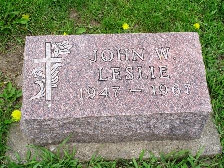 LESLIE, JOHN W - Jones County, Iowa | JOHN W LESLIE