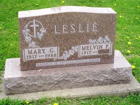 LESLIE, MARY G - Jones County, Iowa   MARY G LESLIE