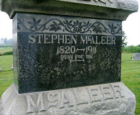MCALEER, STEPHEN - Jones County, Iowa   STEPHEN MCALEER