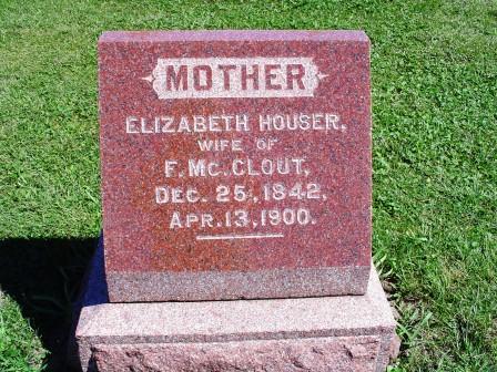 MCCLOUT, ELIZABETH - Jones County, Iowa | ELIZABETH MCCLOUT