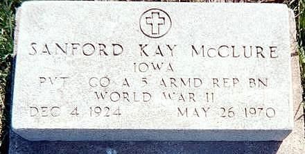 MCCLURE, SANFORD KAY - Jones County, Iowa | SANFORD KAY MCCLURE