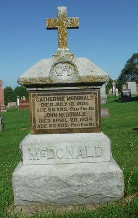 FAGAN MCDONALD, CATHERINE - Jones County, Iowa | CATHERINE FAGAN MCDONALD