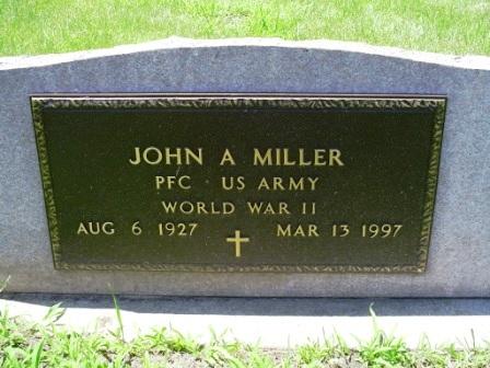 MILLER, JOHN A - Jones County, Iowa | JOHN A MILLER
