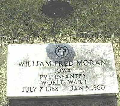 MORAN, WILLIAM FRED - Jones County, Iowa   WILLIAM FRED MORAN