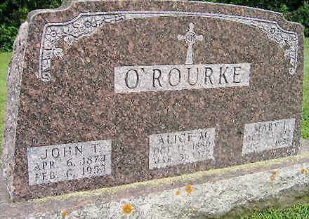 O'ROURKE, JOHN T. - Jones County, Iowa | JOHN T. O'ROURKE