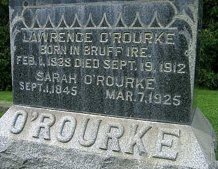 O'ROURKE, LAWRENCE - Jones County, Iowa   LAWRENCE O'ROURKE