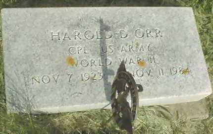 ORR, HAROLD D. - Jones County, Iowa | HAROLD D. ORR