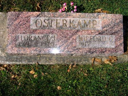 OSTERKAMP, FLORANCE J. - Jones County, Iowa   FLORANCE J. OSTERKAMP
