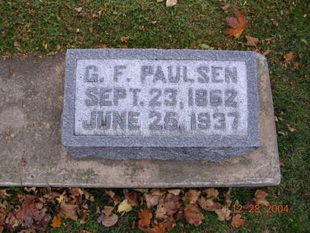 PAULSEN, G. F. - Jones County, Iowa | G. F. PAULSEN