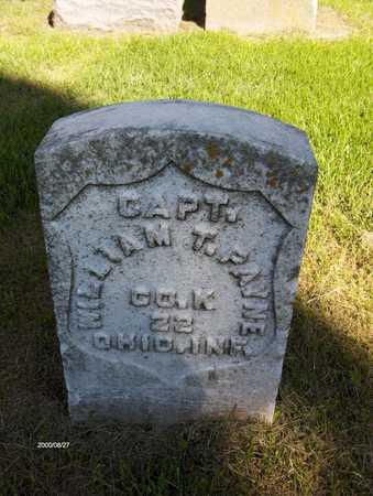 PAYNE, CAPT. WILLIAM T. - Jones County, Iowa | CAPT. WILLIAM T. PAYNE