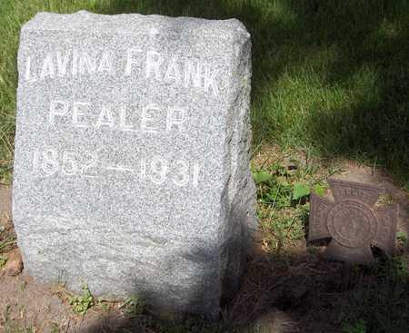 FRANK PEALER, LAVINA - Jones County, Iowa | LAVINA FRANK PEALER