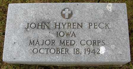 PECK, JOHN HYREN - Jones County, Iowa   JOHN HYREN PECK