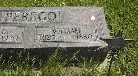 PEREGO, WILLIAM - Jones County, Iowa   WILLIAM PEREGO