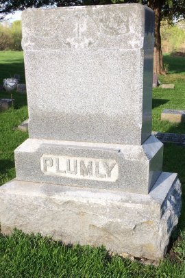 PLUMLY, FAMILY STONE - Jones County, Iowa | FAMILY STONE PLUMLY