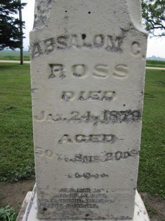 ROSS, ABSALOM C - Jones County, Iowa   ABSALOM C ROSS