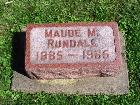 RUNDALL, MAUDE M - Jones County, Iowa | MAUDE M RUNDALL