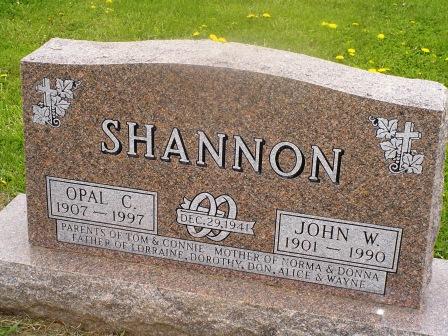 SHANNON, JOHN W - Jones County, Iowa | JOHN W SHANNON