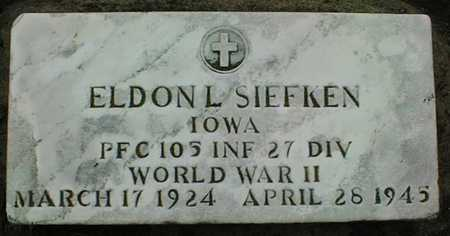 SIEFKEN, ELDON L. - Jones County, Iowa | ELDON L. SIEFKEN