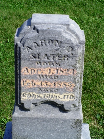 SLATER, AARON P - Jones County, Iowa   AARON P SLATER